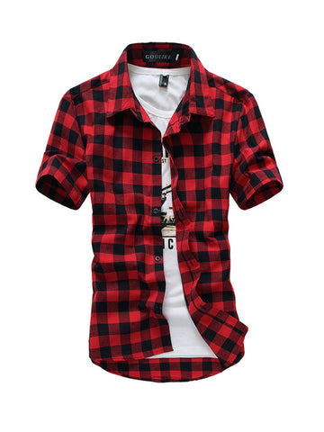 Mens Classic Plaid Shirt - Bychicstyle.com