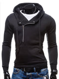 ByChicStyle Mens Plain Zips Classic Hoodie - Bychicstyle.com