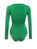 ByChicStyle Round Neck Plain Brief Designed Bodysuit - Bychicstyle.com