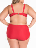 ByChicStyle Simple Style Plain Plus Size Swimwear - Bychicstyle.com