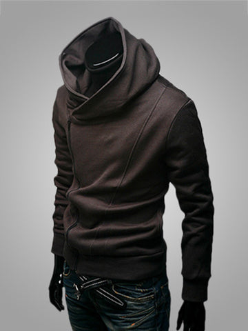 Solid-Color Casual Zips Men Hoodie - Bychicstyle.com