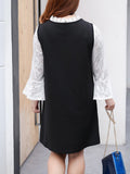 ByChicStyle Ladies Two Piece Plus Size Bell Sleeve Blouse And Dress - Bychicstyle.com