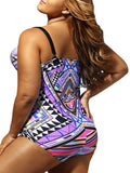 ByChicStyle Casual Plus Size Tribal Printed One Piece Swimwear