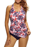 ByChicStyle Casual Backless Printed Halter Plus Size Swimwear