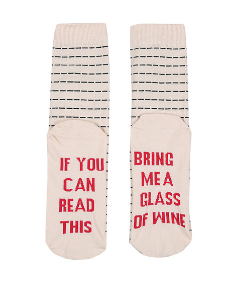 IF You Can Read This Striped Knee-Length Stocking - Bychicstyle.com