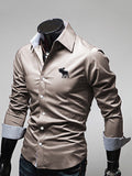 ByChicStyle Turn Down Collar Single Breasted Office Men Shirt - Bychicstyle.com