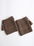 ByChicStyle Tassel Plain Hollow Out Lovely Leg Warmer - Bychicstyle.com