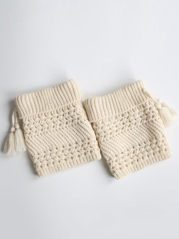 Tassel Plain Hollow Out Lovely Leg Warmer - Bychicstyle.com