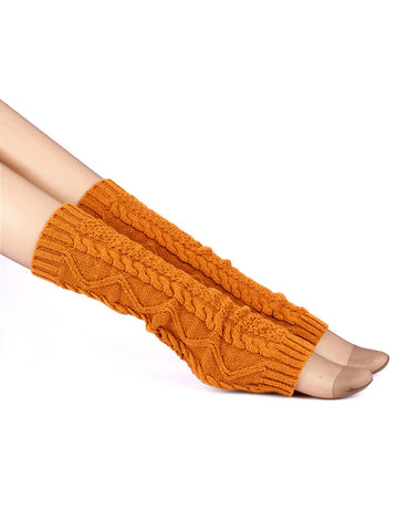 Cotton Solid Patterned Leg Warmer - Bychicstyle.com