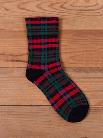 Plaid Cotton Vintage Sock - Bychicstyle.com