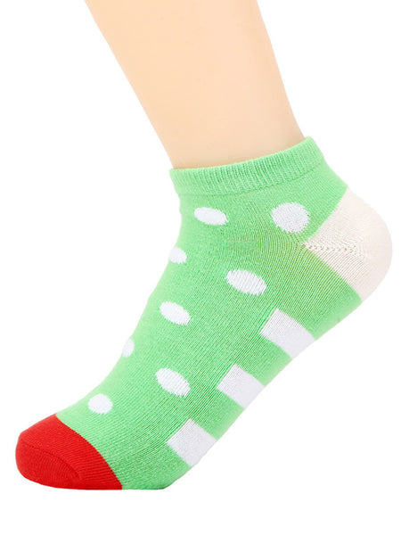 Lovely Color Block Spot Sock - Bychicstyle.com