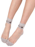 ByChicStyle Girl's Cartoon Cat See Through Sock - Bychicstyle.com