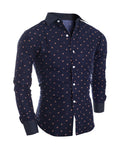 ByChicStyle Casual Allover Floral Printed Turn Down Collar Single Breasted Men Shirt