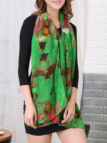 Casual Abstract Printed Long Beach Scarf