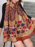 Streetstyle  Casual Abstract Floral Printed Long Scarf