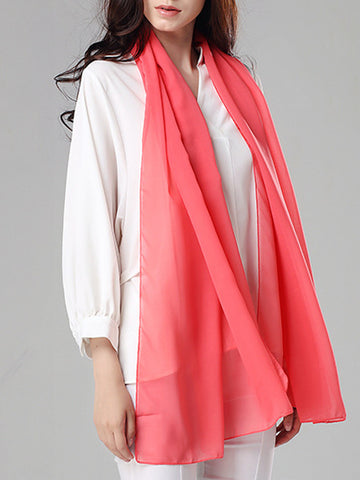 Casual Basic Plain Long Scarf