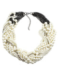 ByChicStyle Casual White Faux Pearl Beaded Necklace