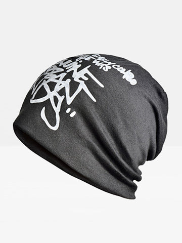 Cotton Polyester Beanie Hat Baggy Slouchy Outdoor Elastic Cap For Man - Bychicstyle.com
