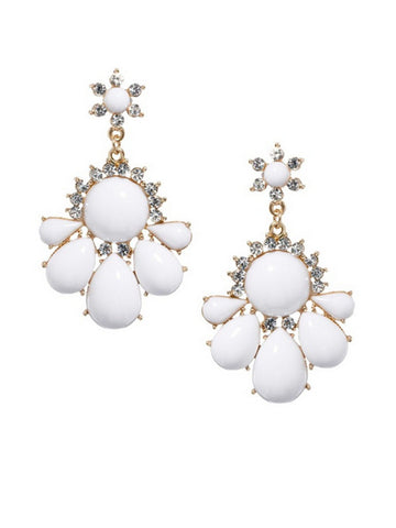 Faux Crystal Rhinestone Geometric Earring - Bychicstyle.com