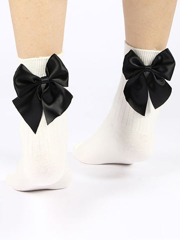 Bowknot Cotton Stockings - Bychicstyle.com