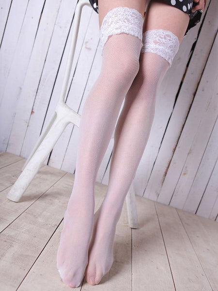 Mesh Lace Long Stockings - Bychicstyle.com