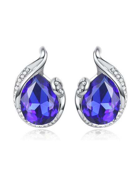Pair Of Chic Style Waterdrop Shape Faux Crystal Earring - Bychicstyle.com