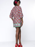 ByChicStyle Tribal Printed Tassel Mini Plus Size Shift Dress - Bychicstyle.com