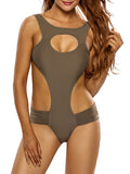 ByChicStyle Hot Designed Cutout Plain One Piece - Bychicstyle.com