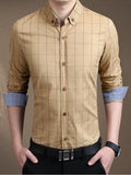 ByChicStyle Check Men Shirt With Button Down Collar - Bychicstyle.com