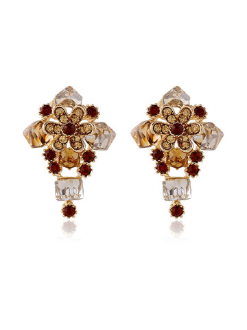 Faux Crystal Vintage Earring - Bychicstyle.com