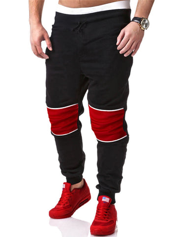 Sport Color Block Mid-Rise Men's Casual Pant - Bychicstyle.com