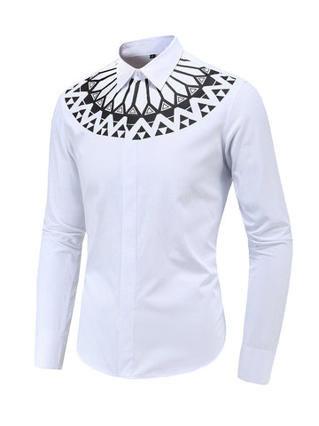 Fabulous Geometric Tribal Printed Men Shirt - Bychicstyle.com