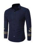 ByChicStyle Printed Fitted Trendy Men Shirt - Bychicstyle.com