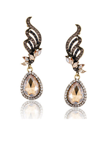 Casual Angel Wings Alloy Faux Crystal Earring