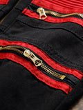 ByChicStyle Patchwork Zips Color Block Trendy Straight Men's Jean - Bychicstyle.com