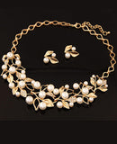 ByChicStyle Gold Plated Inlaid With Imitation Diamond Pearl Necklace - Bychicstyle.com