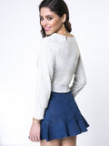 ByChicStyle Casual Designed Lace-Up Plain Sweatshirt - Bychicstyle.com