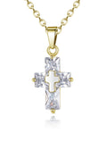 ByChicStyle Casual Alloy Chain Cross Pendant Necklace