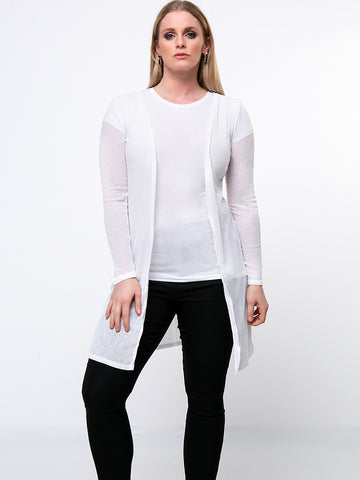 Casual Rhinestone Wings Hollow Out Plain Plus Size Cardigan