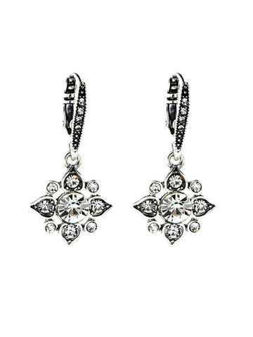 Stars Shape Faux Crystal Earring - Bychicstyle.com