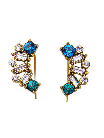 Square Crystal Stud Earring - Bychicstyle.com