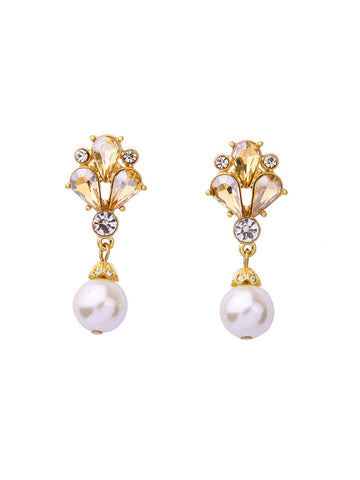 Casual Drop Faux Crystal Elegant Earring