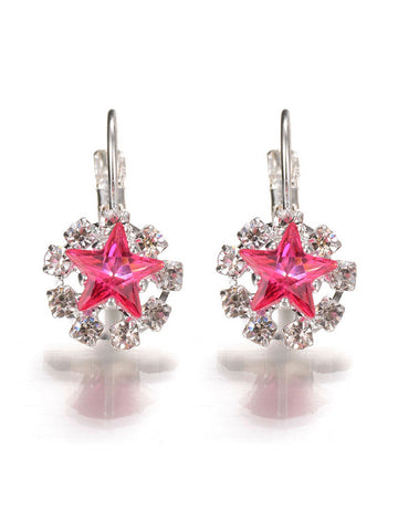 Star Faux Crystal Earring - Bychicstyle.com