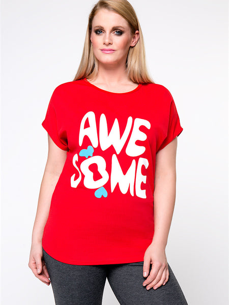Cute Awesome Printed Plus Size T-Shirt - Bychicstyle.com