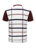 ByChicStyle Short Sleeve Polo Collar Decorative Button Plaid T-Shirt - Bychicstyle.com