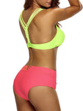 ByChicStyle Casual Y-Back Color Block Swimwear