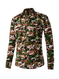 ByChicStyle Trendy Turn Down Collar Men Shirt In Camouflage - Bychicstyle.com