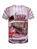 ByChicStyle Short Sleeve Crew Neck Shoes Printed T-Shirt - Bychicstyle.com
