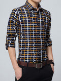 ByChicStyle Single Breasted Unique Plaid Men Shirt - Bychicstyle.com