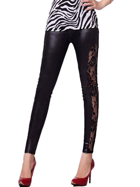 Modern Hot Patchwork See-Through Solid Legging - Bychicstyle.com